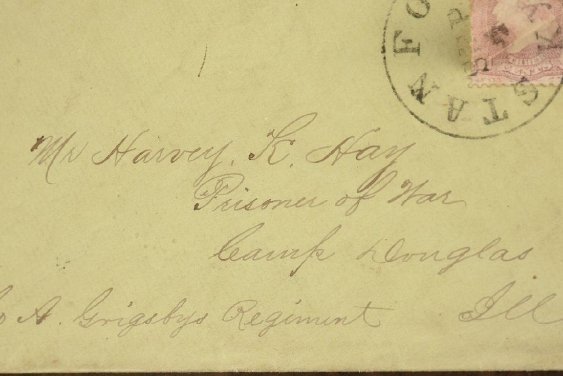 AN AMERICAN CIVIL WAR SECRET MESSAGE LETTER, AUGUST 23, - 4