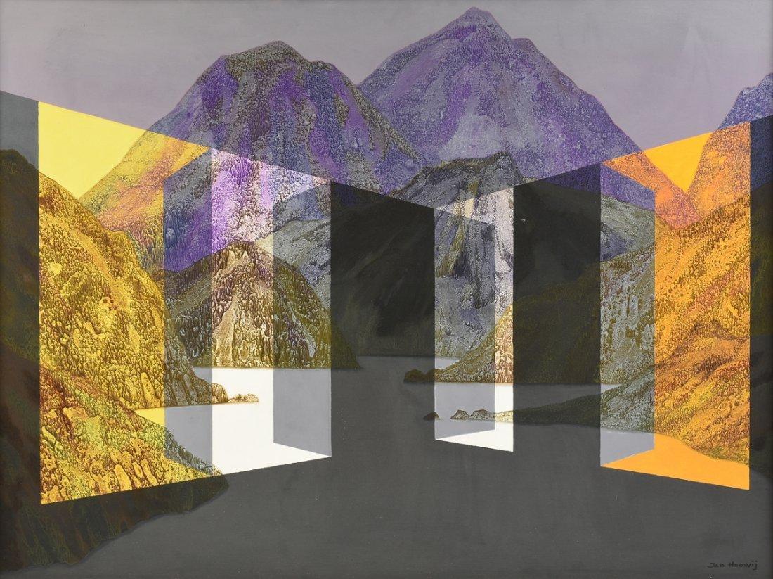 """JAN HOOWIJ (American 1907-1987) A PAINTING, """"Doors of"""