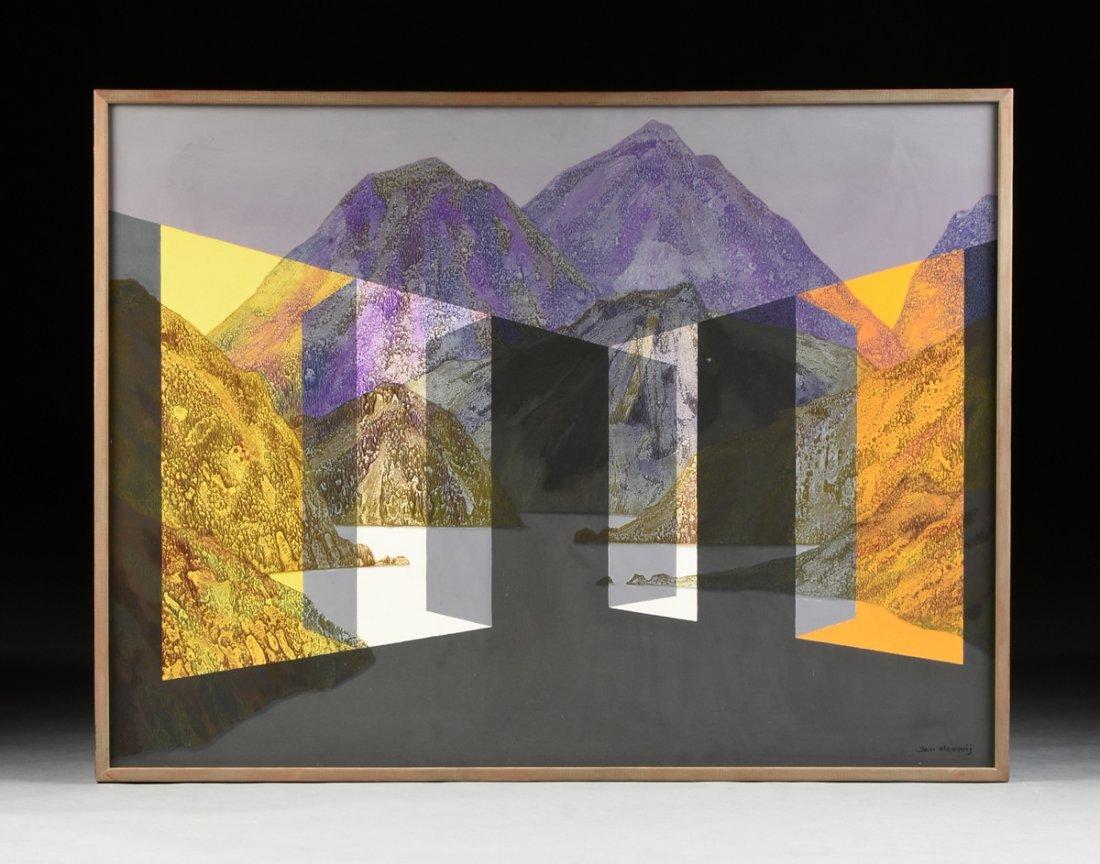 """JAN HOOWIJ (American 1907-1987) A PAINTING, """"Doors of - 2"""