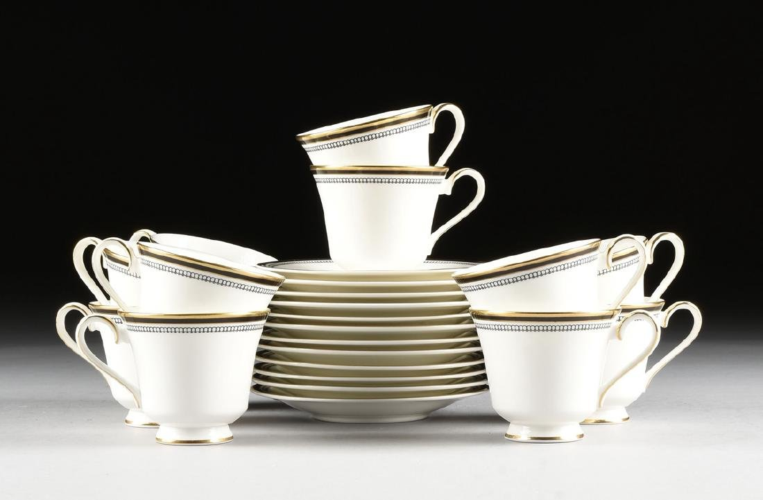 A SIXTY-THREE PIECE ROYAL DOULTON GILT AND ENAMEL - 13
