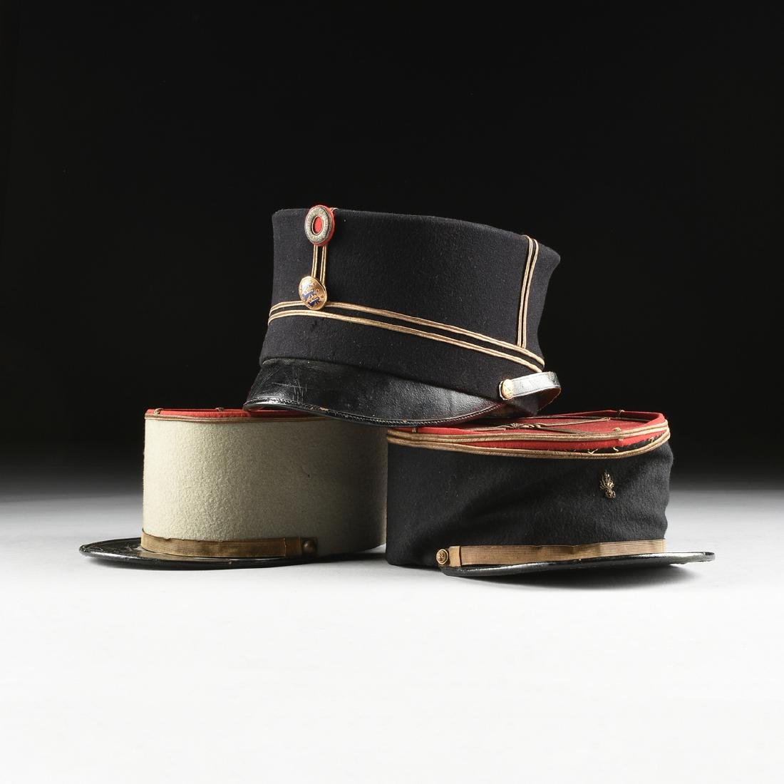 A GROUP OF THREE CONTINENTAL MILITARY HATS, CIRCA