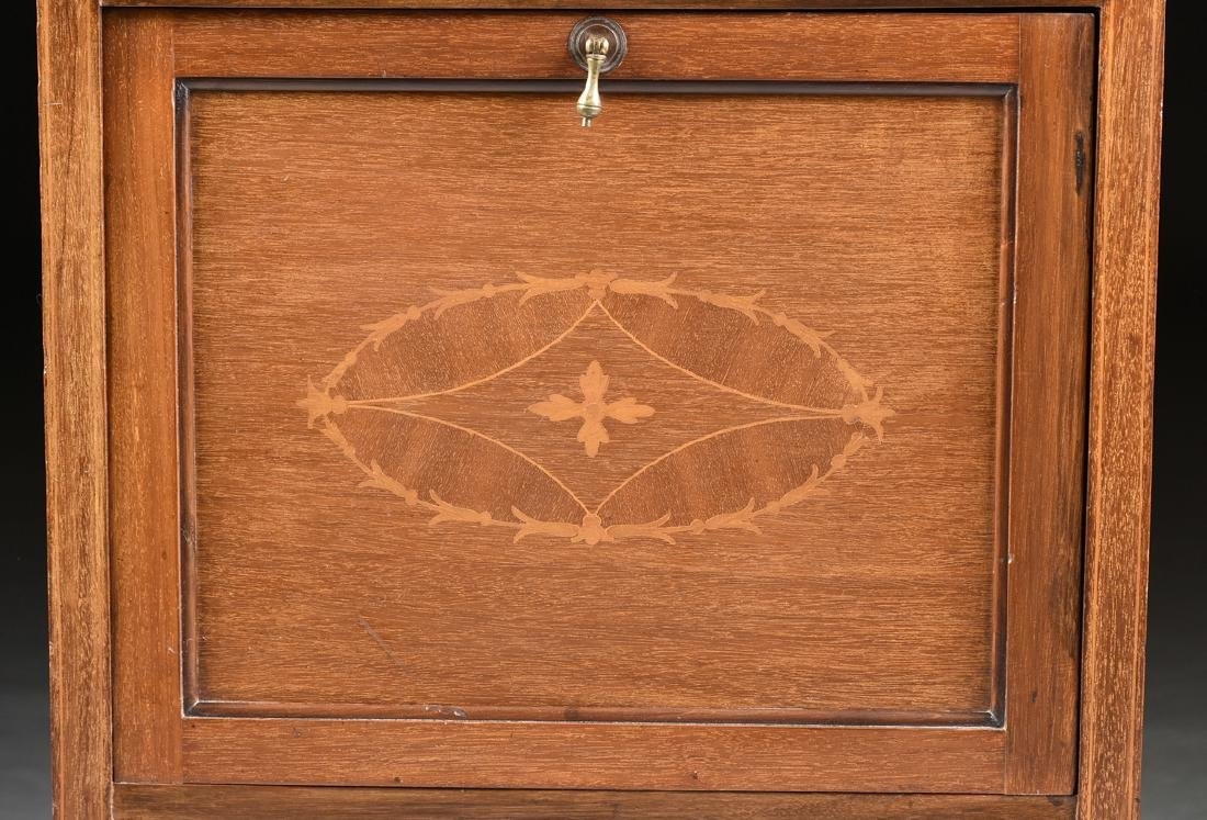 AN ENGLISH ARTS AND CRAFTS MARQUETRY INLAID MAHOGANY - 6