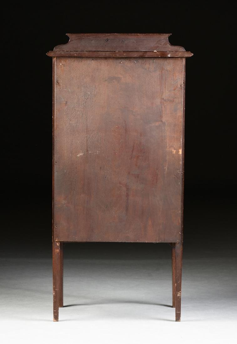 AN ENGLISH ARTS AND CRAFTS MARQUETRY INLAID MAHOGANY - 8