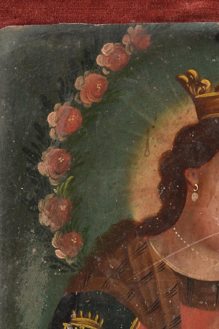 A RETABLO OF MARY AND JESUS, MEXICO, 19TH CENTURY, - 4