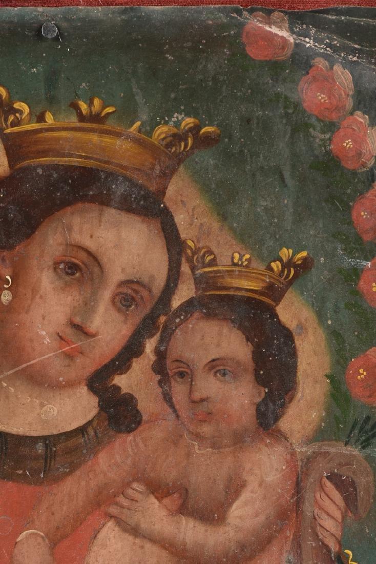 A RETABLO OF MARY AND JESUS, MEXICO, 19TH CENTURY, - 5