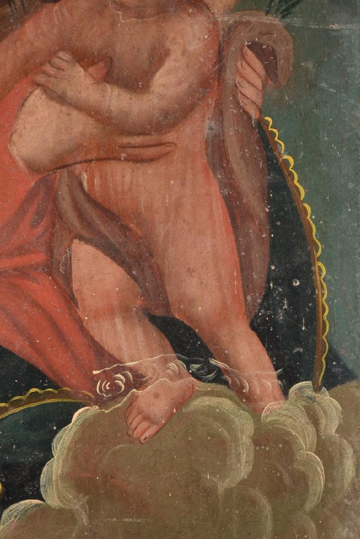 A RETABLO OF MARY AND JESUS, MEXICO, 19TH CENTURY, - 6