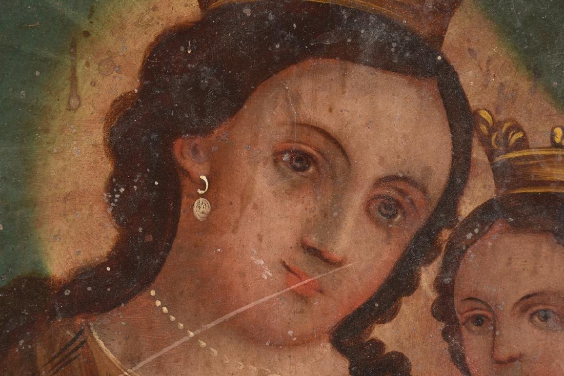 A RETABLO OF MARY AND JESUS, MEXICO, 19TH CENTURY, - 8