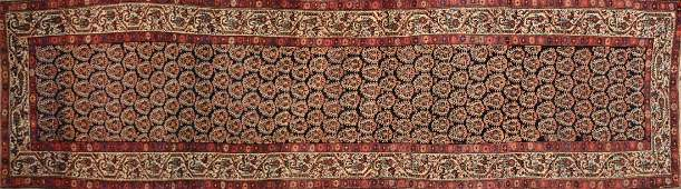 AN ANTIQUE AFSHAR HAND KNOTTED WOOL RUNNER PERSIAN