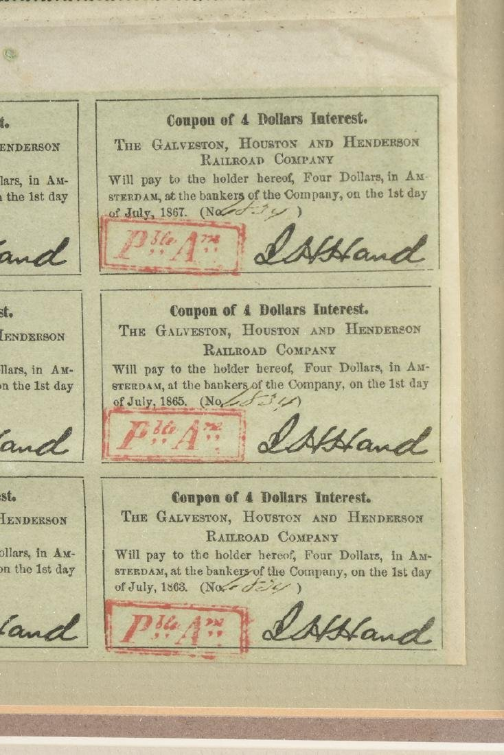 A GALVESTON, HOUSTON & HENDERSON RAILROAD CO. BOND FOR - 6