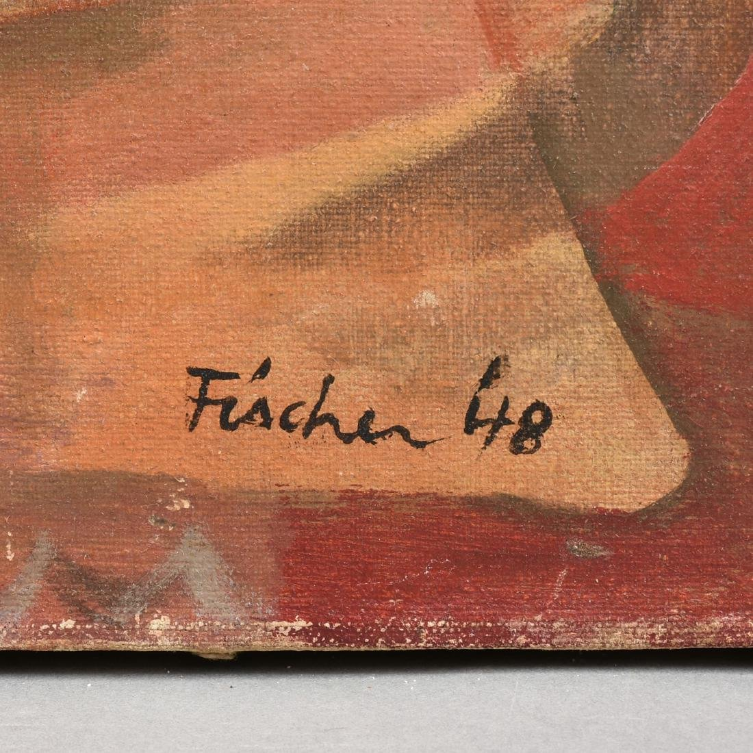 """FISCHER (American 20th Century) A PAINTING, """"Surreal - 3"""