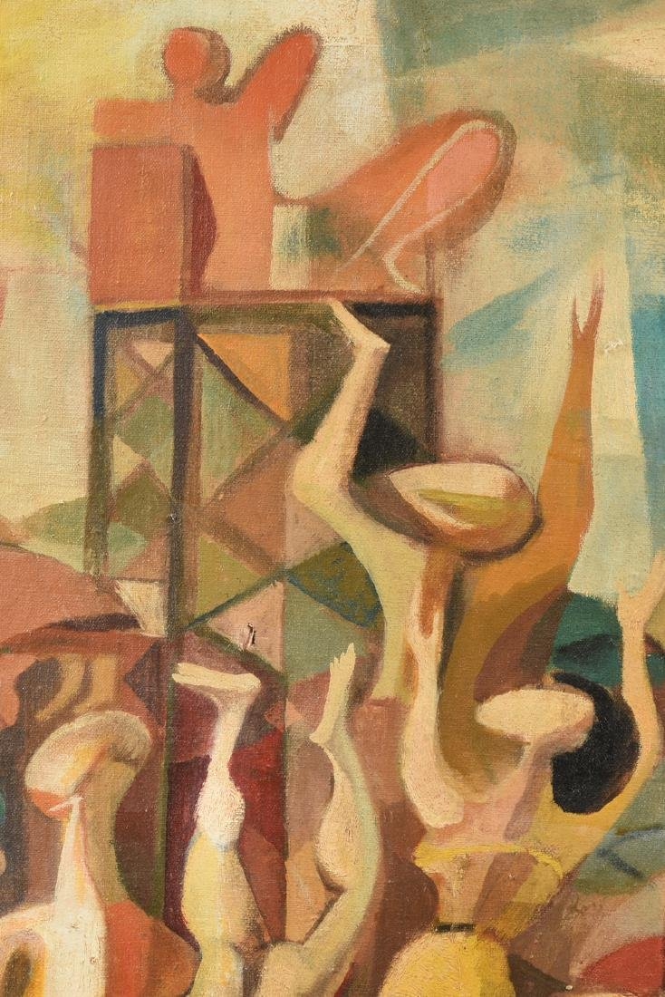 """FISCHER (American 20th Century) A PAINTING, """"Surreal - 8"""