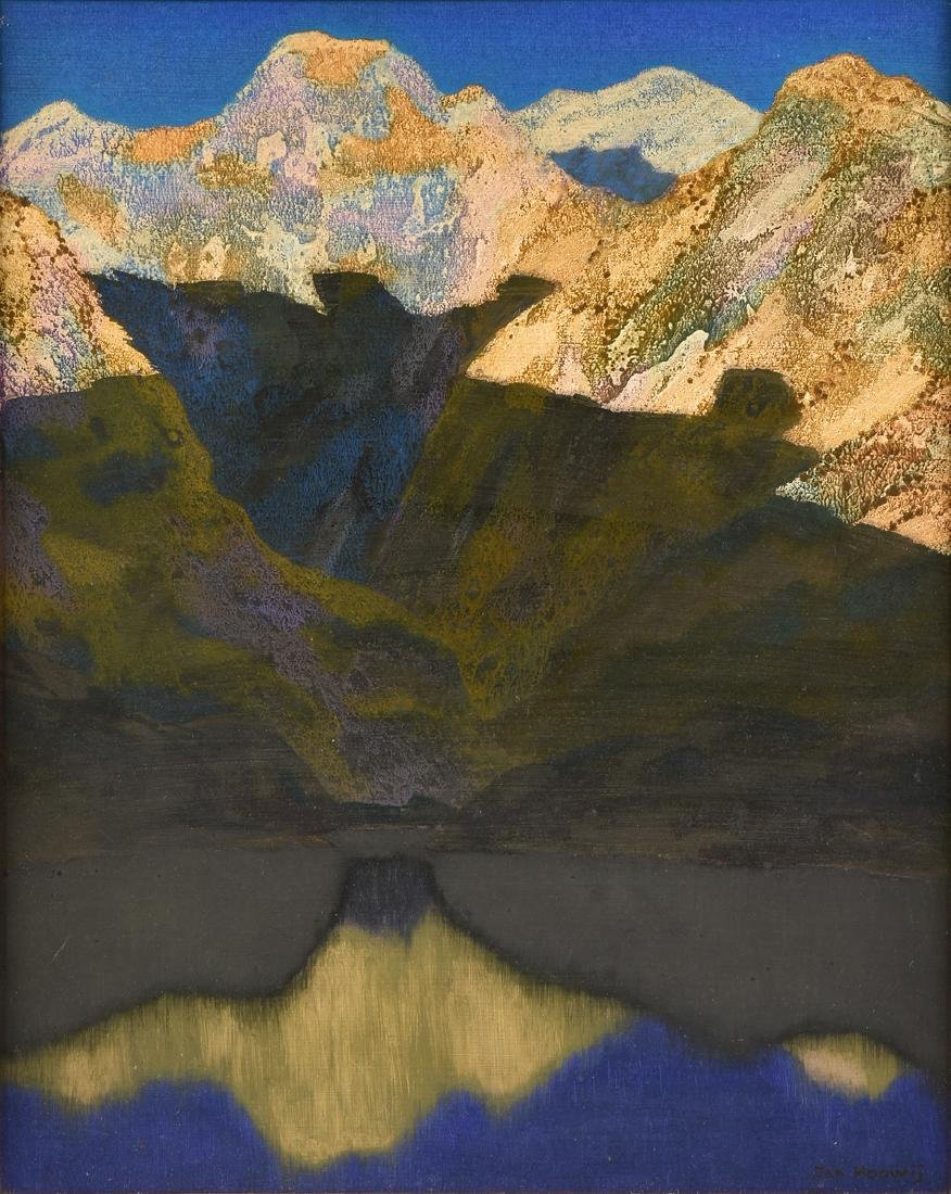 "JAN HOOWIJ (American 1907-1987) A PAINTING, ""Early"