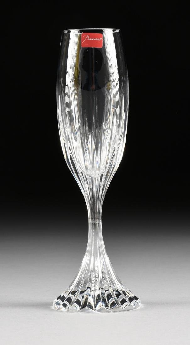 A SET OF FOUR CASED BACCARAT CUT CRYSTAL CHAMPAGNE - 3