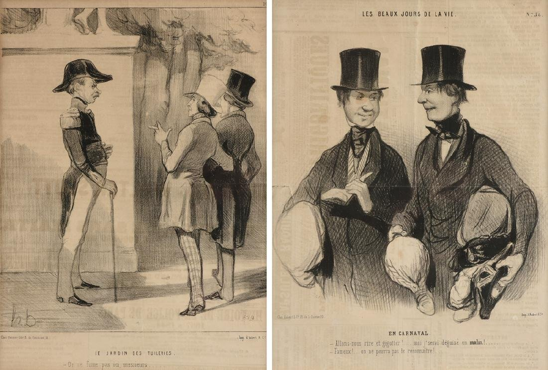HONORÉ DAUMIER (French 1808-1879) TWO FRENCH SATIRE