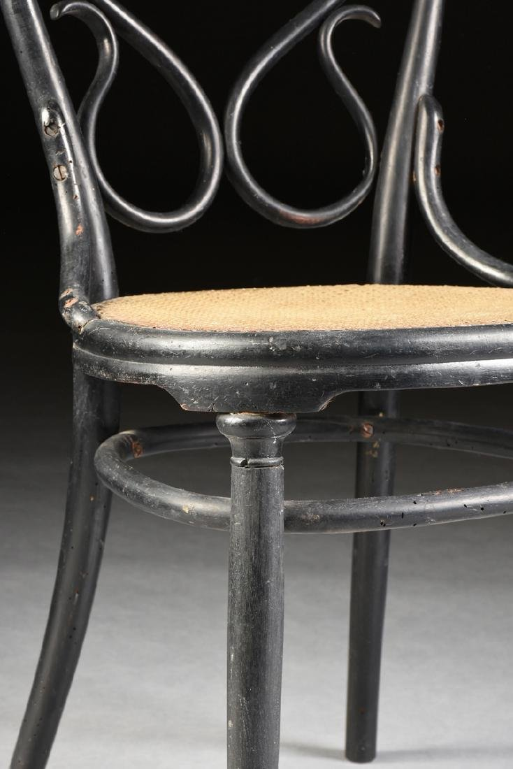A PAIR OF ART NOUVEAU GEBRUDER THONET EBONIZED BEECH - 5