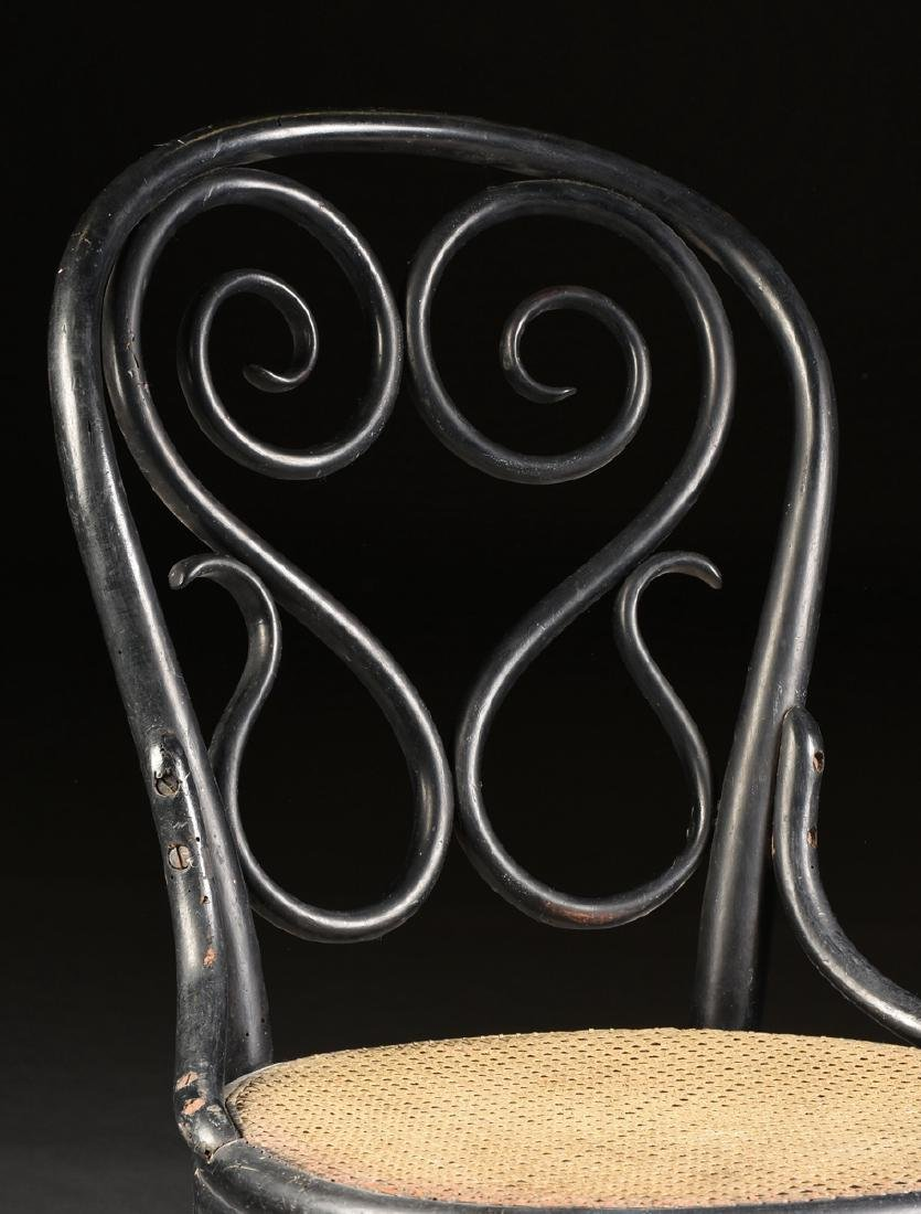 A PAIR OF ART NOUVEAU GEBRUDER THONET EBONIZED BEECH - 6