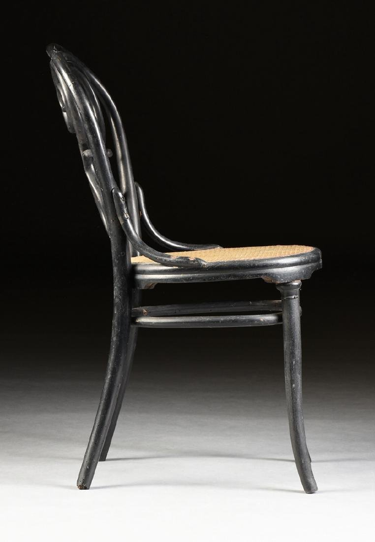 A PAIR OF ART NOUVEAU GEBRUDER THONET EBONIZED BEECH - 7