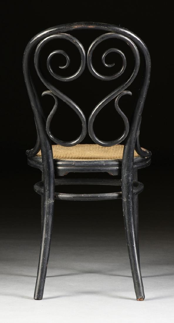 A PAIR OF ART NOUVEAU GEBRUDER THONET EBONIZED BEECH - 9