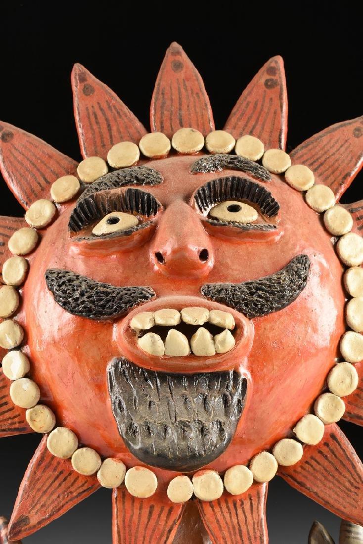 A MEXICAN GLAZED TERRA COTTA FIGURAL FOLK ART GROUP, - 2