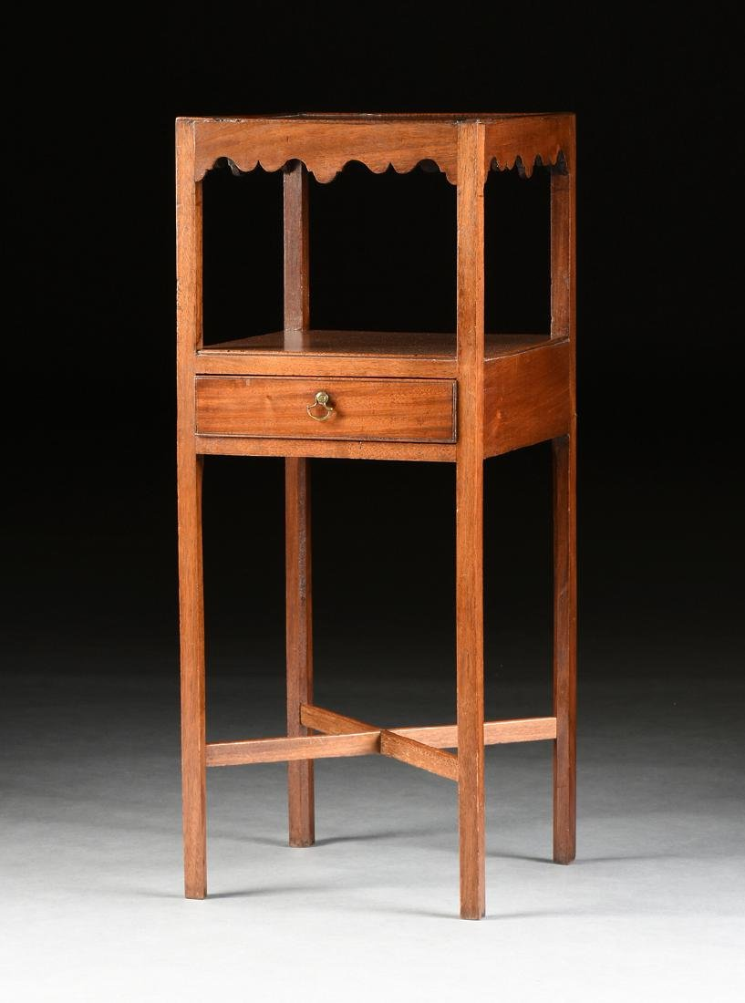 A GEORGE III STYLE MAHOGANY WASHSTAND, 19TH CENTURY,