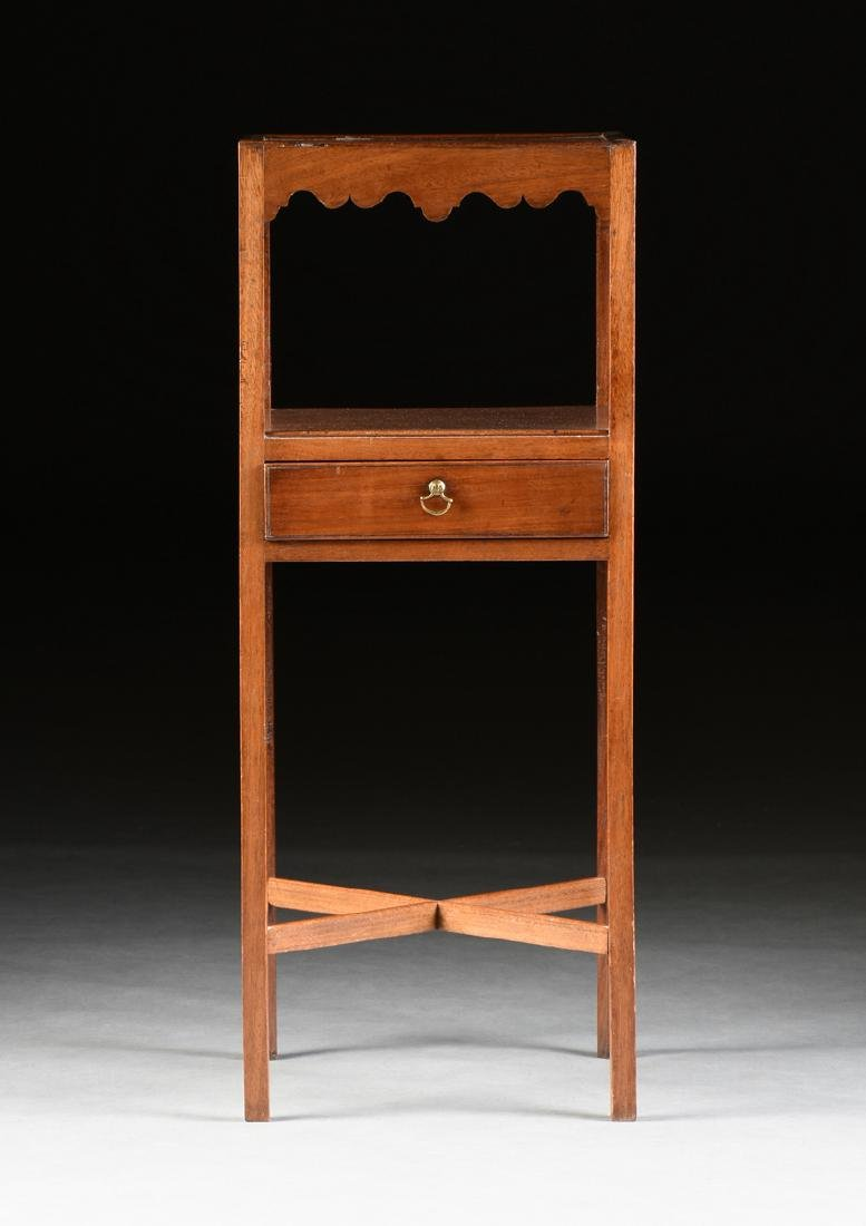 A GEORGE III STYLE MAHOGANY WASHSTAND, 19TH CENTURY, - 2