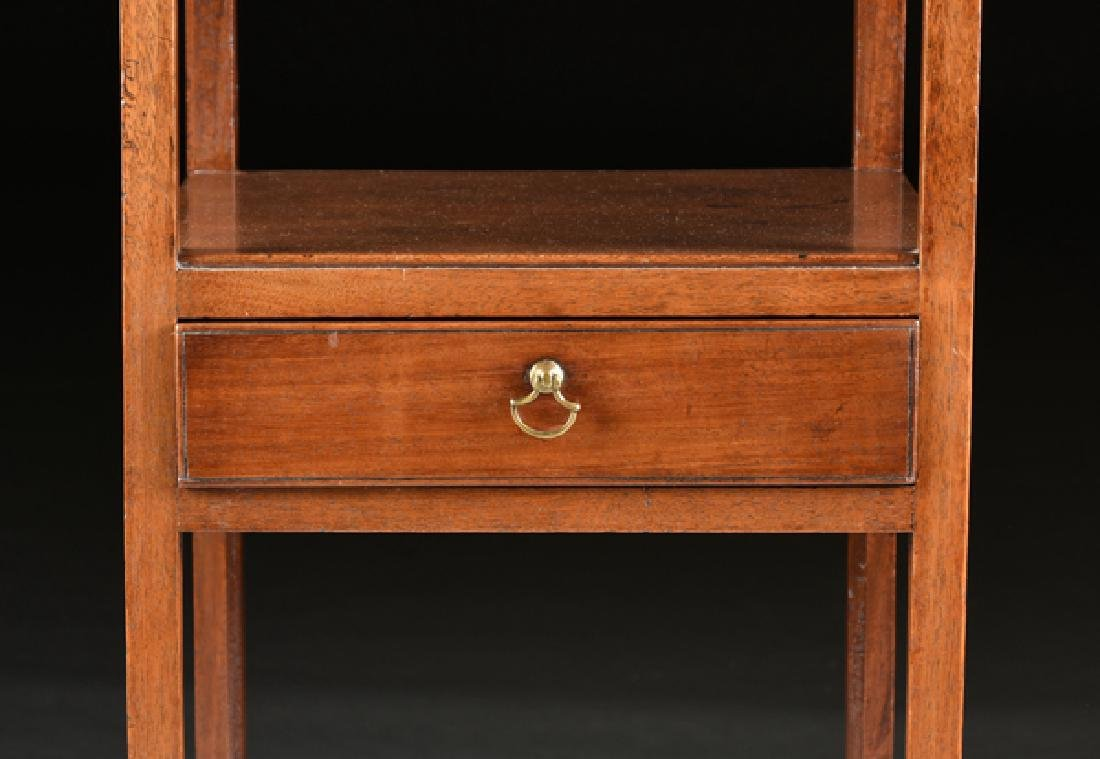 A GEORGE III STYLE MAHOGANY WASHSTAND, 19TH CENTURY, - 4