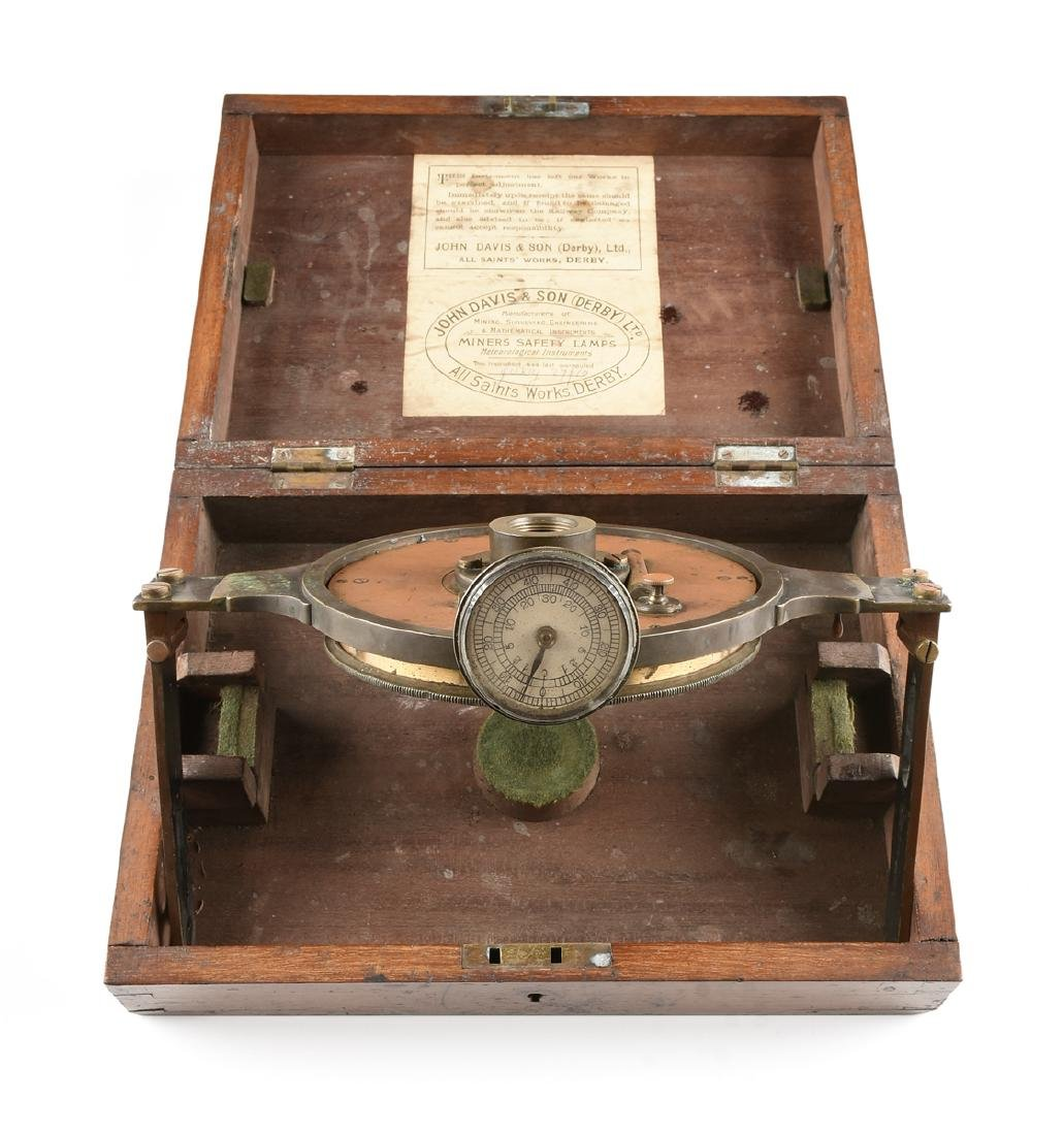 A JOHN DAVIS & SON, LTD. CASED BRASS RIGID DIAL, DERBY,