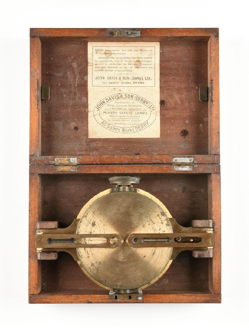 A JOHN DAVIS & SON, LTD. CASED BRASS RIGID DIAL, DERBY, - 4