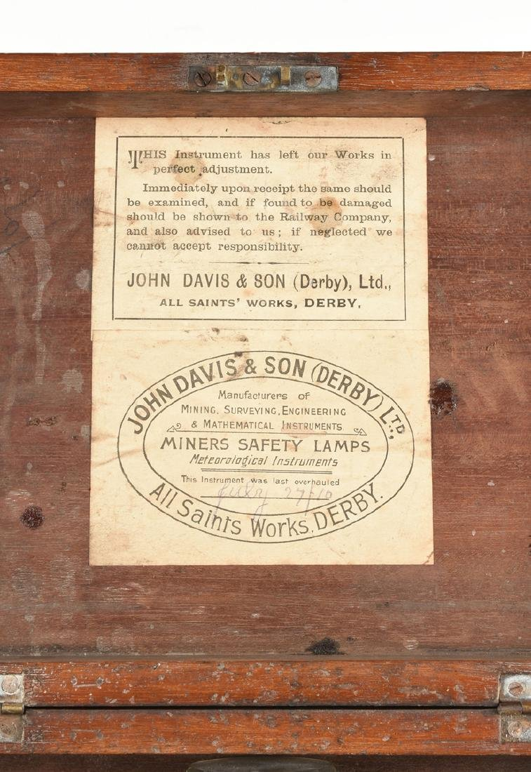 A JOHN DAVIS & SON, LTD. CASED BRASS RIGID DIAL, DERBY, - 5