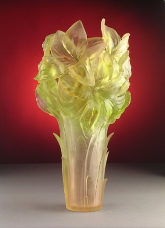 17: A FRENCH LIMITED EDITION DAUM VASE,   the satin gla