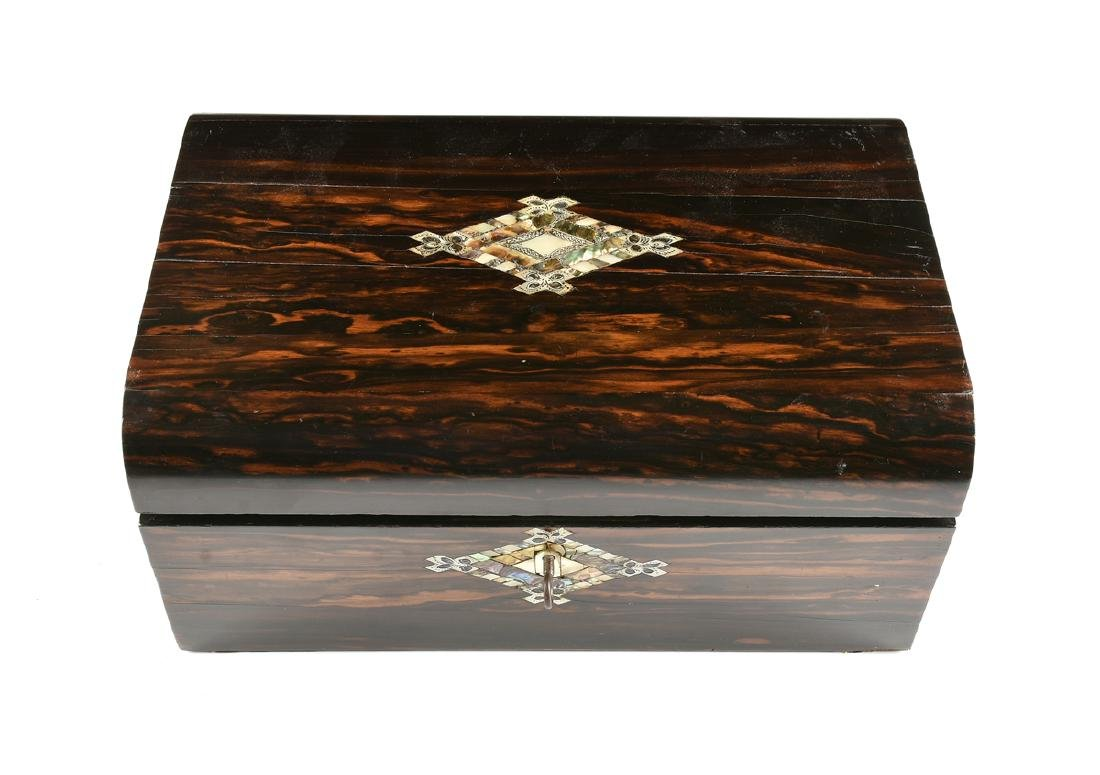 A VICTORIAN MOTHER-OF-PEARL INLAID COROMANDEL AND