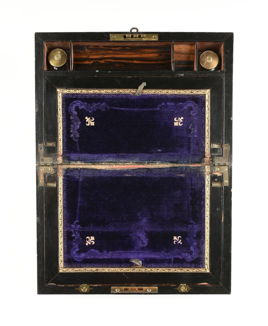 A VICTORIAN MOTHER-OF-PEARL INLAID COROMANDEL AND - 2