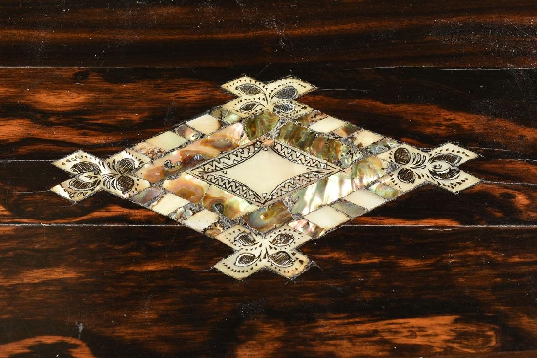 A VICTORIAN MOTHER-OF-PEARL INLAID COROMANDEL AND - 6