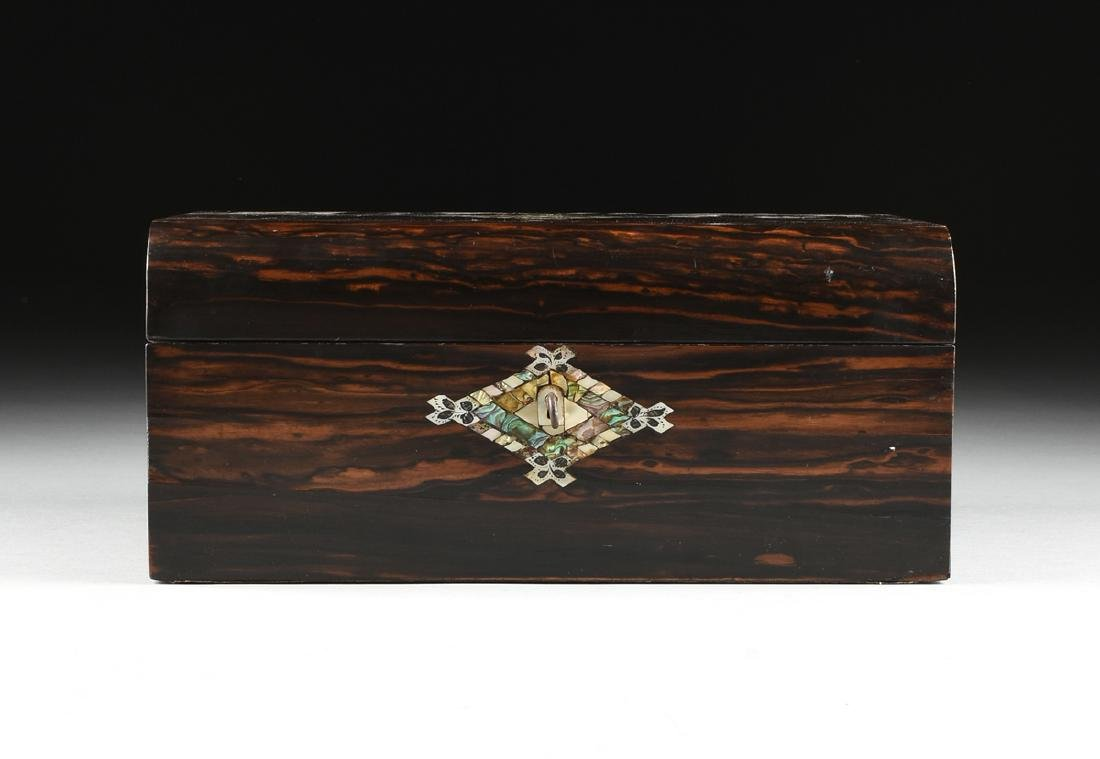 A VICTORIAN MOTHER-OF-PEARL INLAID COROMANDEL AND - 7