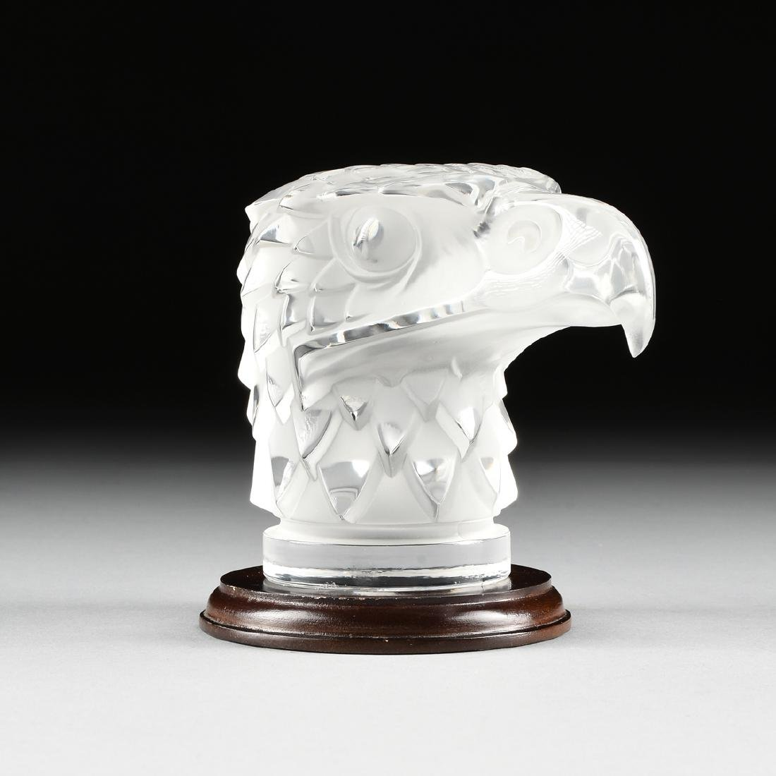 "A LALIQUE CLEAR AND FROSTED GLASS ""TÊTE D'AIGLE,"" EAGLE"