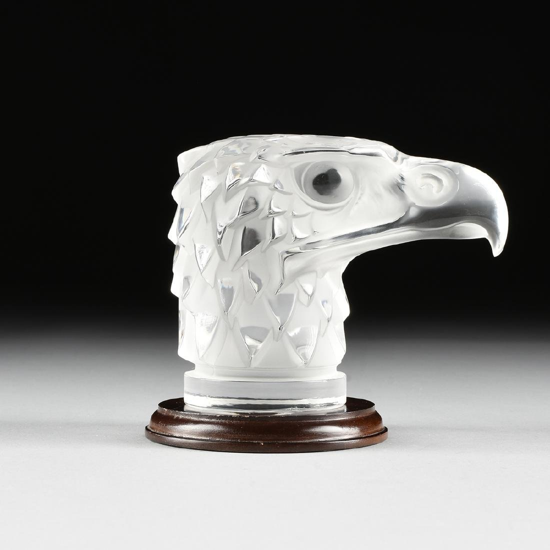 "A LALIQUE CLEAR AND FROSTED GLASS ""TÊTE D'AIGLE,"" EAGLE - 2"