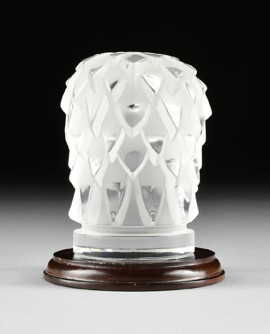 "A LALIQUE CLEAR AND FROSTED GLASS ""TÊTE D'AIGLE,"" EAGLE - 3"