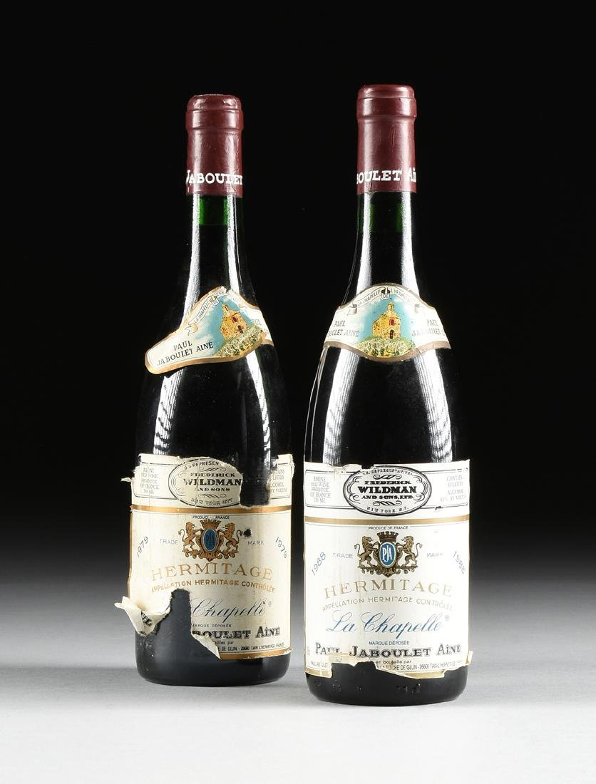A GROUP OF ONE 1979 AND ONE 1988 BOTTLES OF HERMITAGE