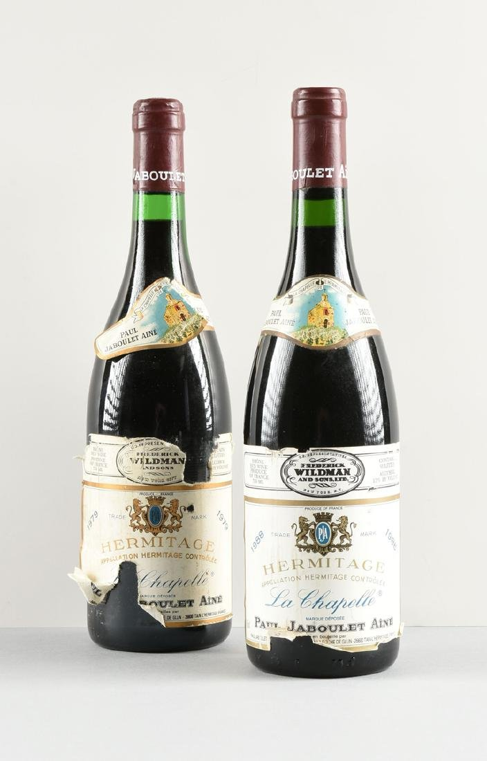 A GROUP OF ONE 1979 AND ONE 1988 BOTTLES OF HERMITAGE - 2
