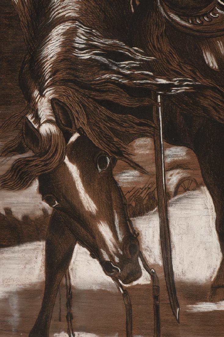 ERNST RECHEL (German 19th century) A PAIR OF DRAWINGS, - 7
