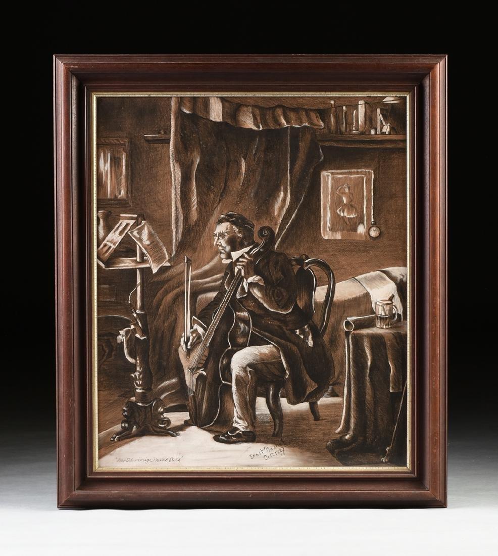 ERNST RECHEL (German 19th century) A PAIR OF DRAWINGS, - 9