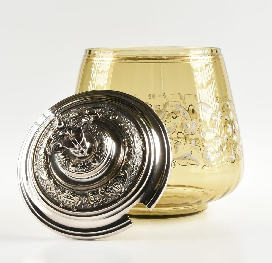 A LUDWIG MOSER & SOHNE GILT AND ENAMEL DECORATED OLIVE - 2