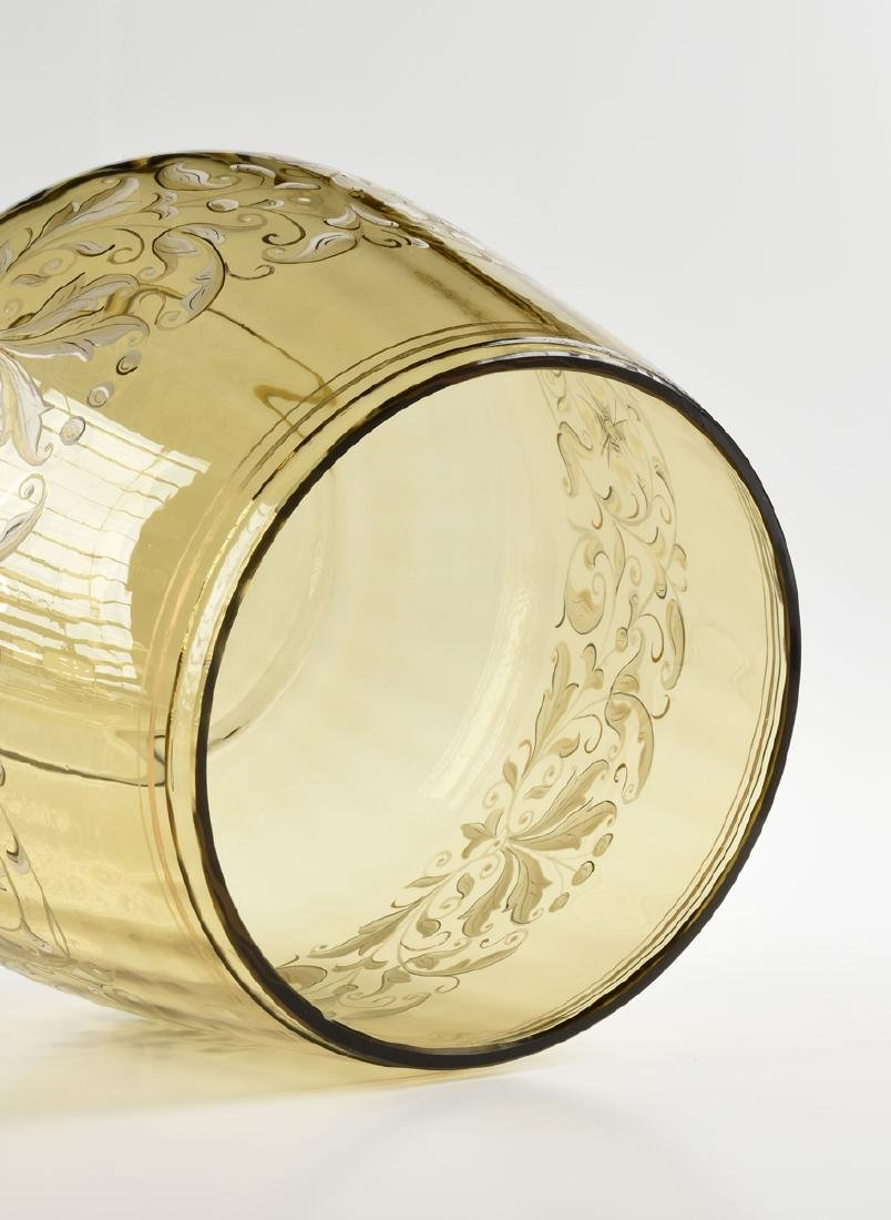 A LUDWIG MOSER & SOHNE GILT AND ENAMEL DECORATED OLIVE - 4