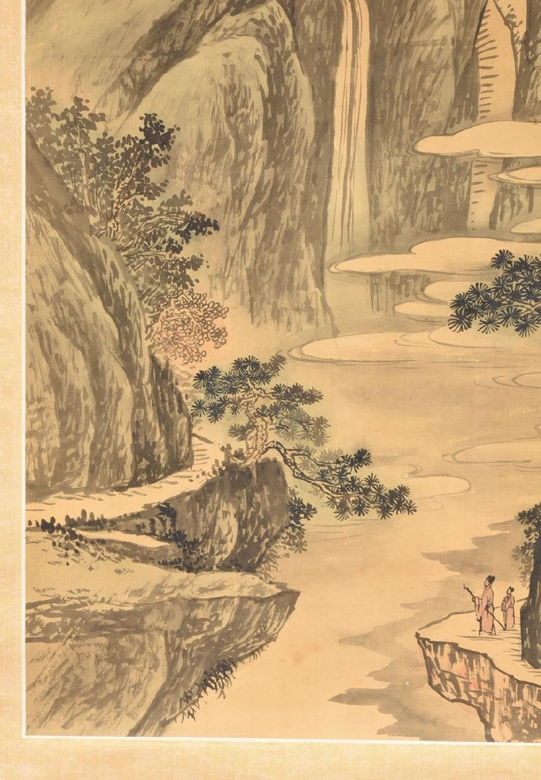 A JAPANESE KANO SCHOOL WATERCOLOR ON SILK SCROLL, - 7