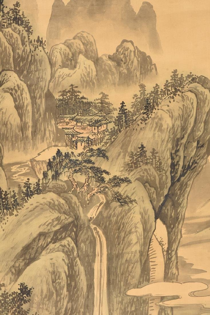 A JAPANESE KANO SCHOOL WATERCOLOR ON SILK SCROLL, - 8