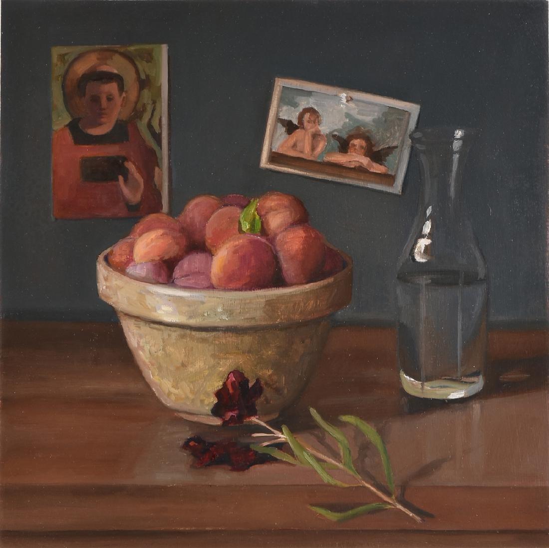 "JEAN WETTA (American 20th Century) A PAINTING, ""Peaches"