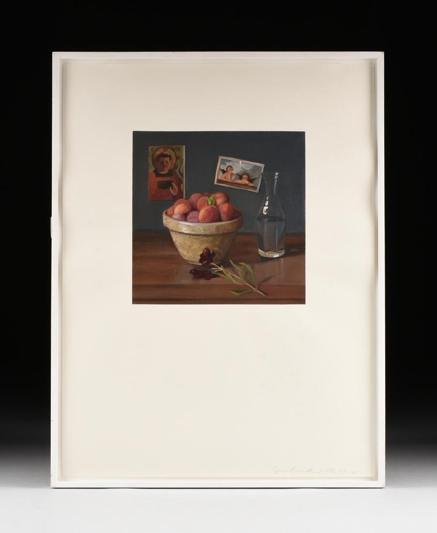 "JEAN WETTA (American 20th Century) A PAINTING, ""Peaches - 2"