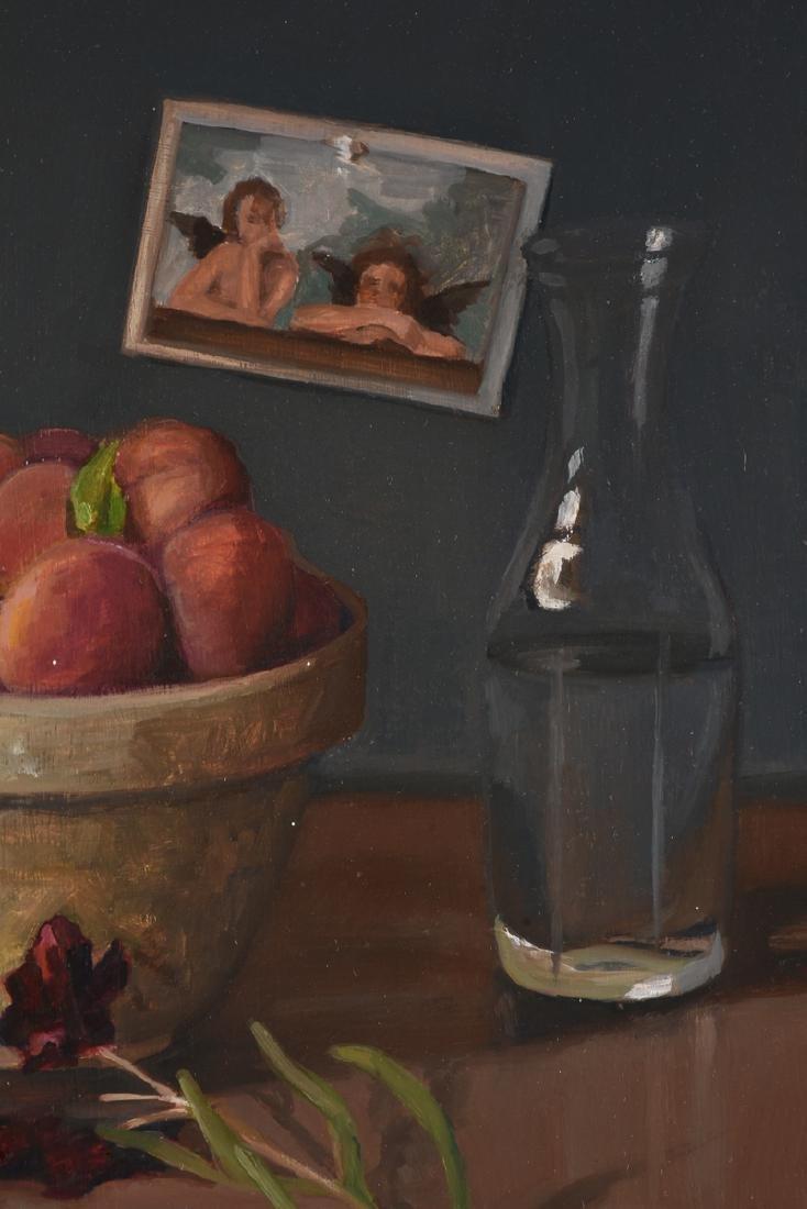 "JEAN WETTA (American 20th Century) A PAINTING, ""Peaches - 4"