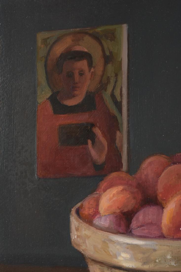"JEAN WETTA (American 20th Century) A PAINTING, ""Peaches - 6"