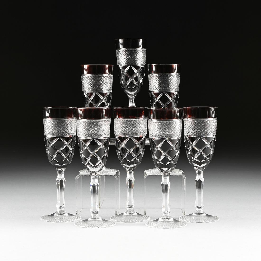 attributed to VAL ST. LAMBERT, A SET OF EIGHT RED
